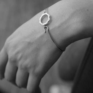 Bracciale filo di tempo Mini argento e oro