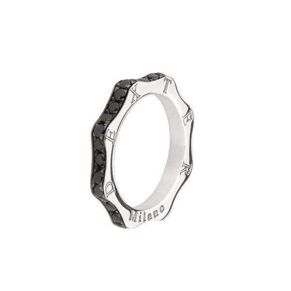 Anello Classico argento zirconi