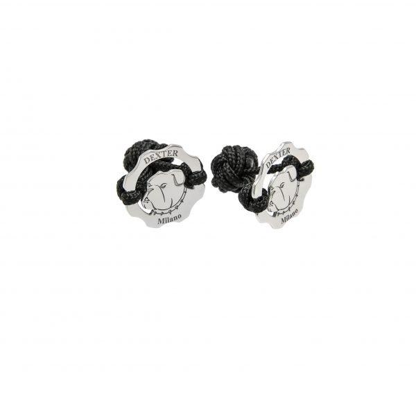 Gemelli simbolo bulldog e filo nero