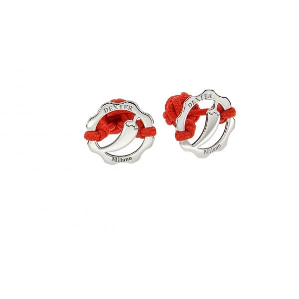 Gemelli simbolo peperoncino argento filo rosso