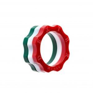 Combinazione Anello Classico plexyglass rosso, bianco e verde