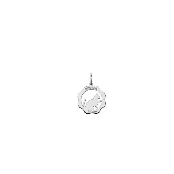 Ciondolo simbolo gatto argento