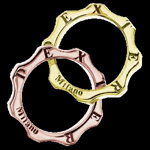 ingranaggi due mini oro e rosa dexter gioielli milano