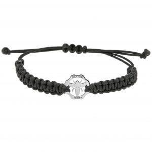 Bracciale simbolo Ape Regina e filo nero